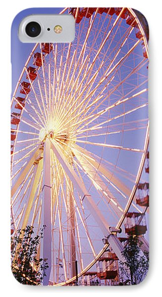 Low Angle View Of A Ferris Wheel, Navy IPhone Case by Panoramic Images