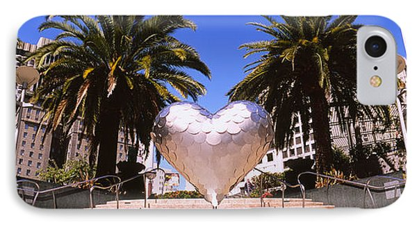 Low Angle View Of A Heart Shape IPhone Case by Panoramic Images