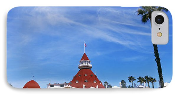 Low Angle View Of A Hotel, Hotel Del IPhone Case by Panoramic Images