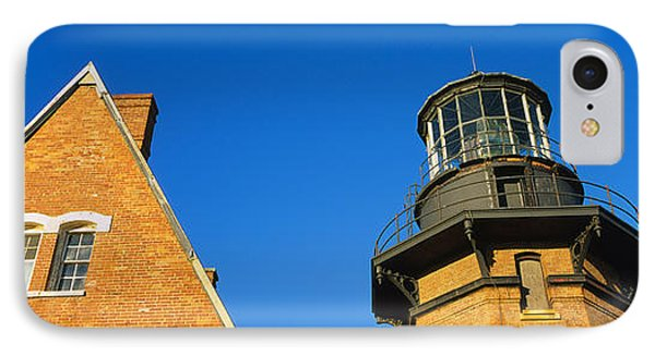 Low Angle View Of A Lighthouse, Block IPhone Case by Panoramic Images