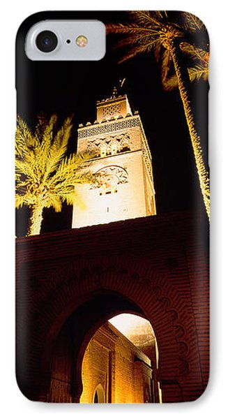 Low Angle View Of A Mosque Lit IPhone Case by Panoramic Images