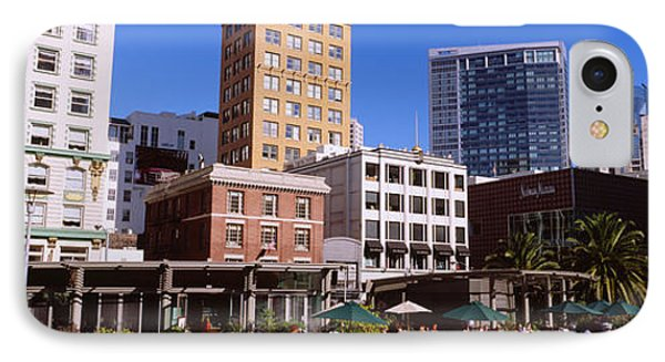 Low Angle View Of Buildings At A Town IPhone Case by Panoramic Images