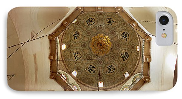 Low Angle View Of Ceiling In A Mosque IPhone Case by Panoramic Images