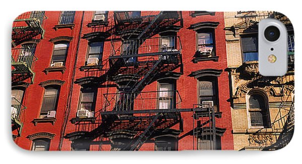 Low Angle View Of Fire Escapes IPhone Case by Panoramic Images