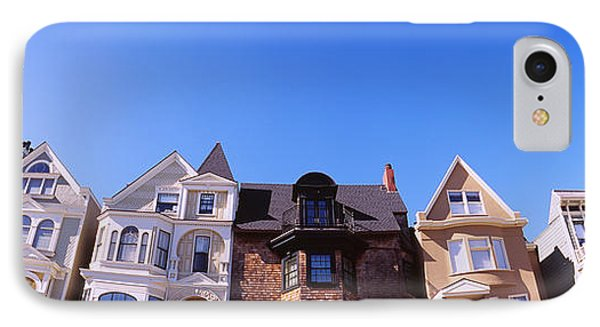 Low Angle View Of Houses In A Row IPhone Case by Panoramic Images