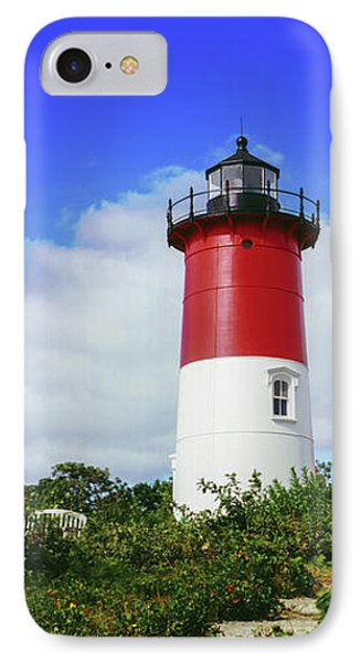 Low Angle View Of Nauset Lighthouse IPhone Case by Panoramic Images