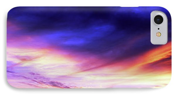 Low Angle View Of Sky At Sunset, Cape IPhone Case by Panoramic Images