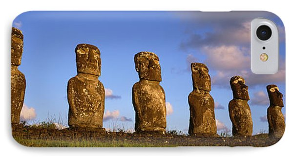 Low Angle View Of Statues In A Row IPhone Case by Panoramic Images