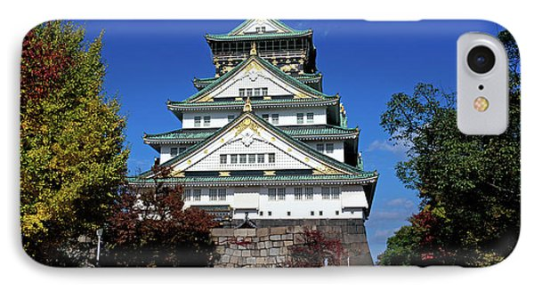Low Angle View Of The Osaka Castle IPhone Case by Panoramic Images