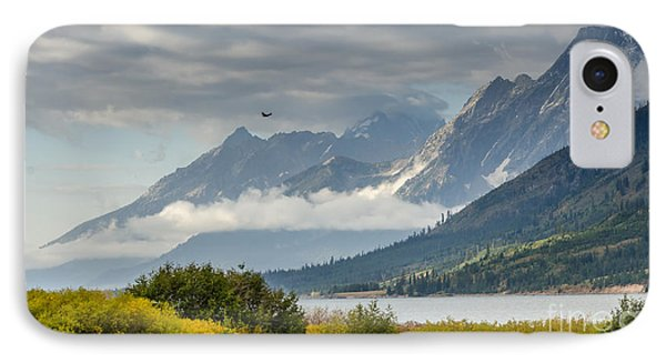 Low Clouds On The Teton Mountains IPhone Case
