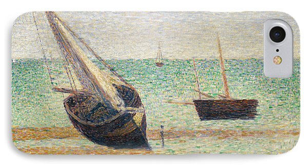 Low Tide At Grandcamp IPhone Case by Georges Pierre Seurat
