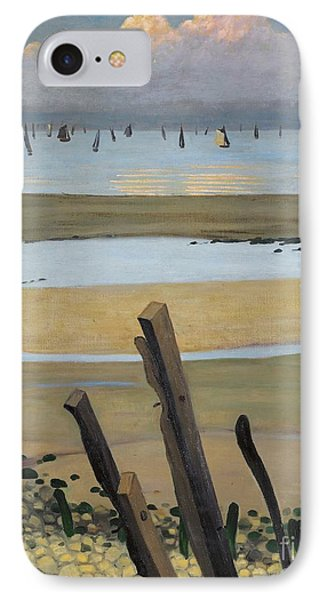 Low Tide At Villerville IPhone Case by Felix Edouard Vallotton