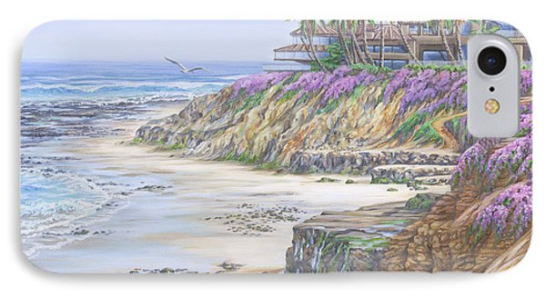 IPhone Case featuring the painting Low Tide Solana Beach by Jane Girardot