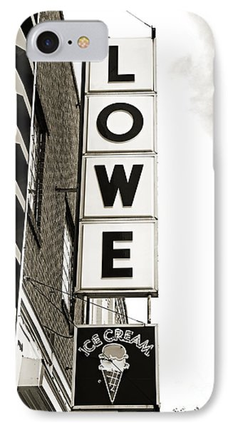 Lowe Drug Store Sign Bw Phone Case by Andee Design