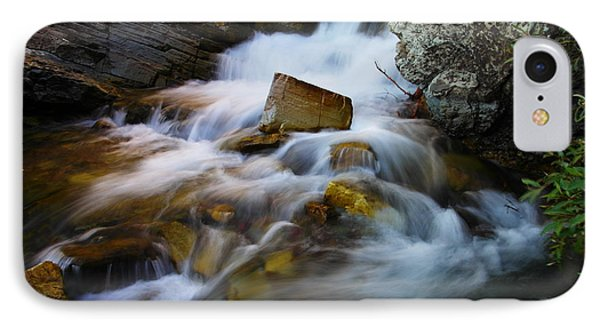 Lower Apikumi Falls Glacier National Park Phone Case by Jeff Swan