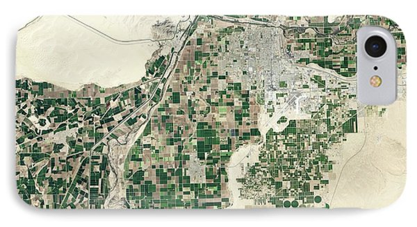 Lower Colorado River IPhone Case by Nasa Earth Observatory