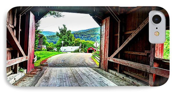 Lower Covered Bridge IPhone Case by John Nielsen