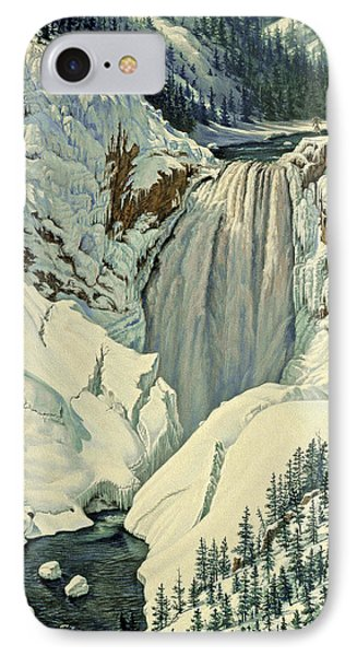 Lower Falls-april IPhone Case by Paul Krapf