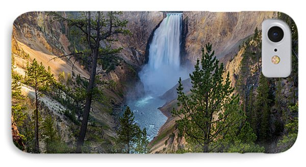 Lower Falls At Yellowstone River IPhone Case by Michael J Bauer