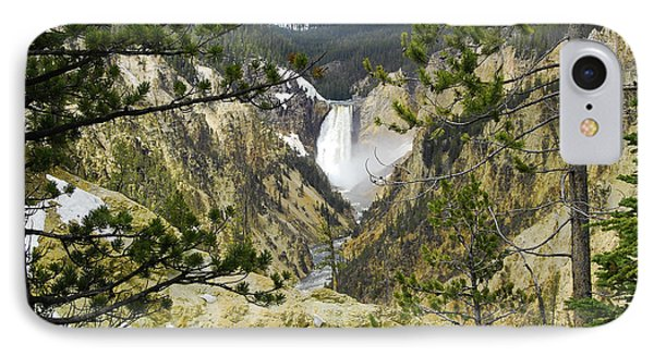 Lower Falls From Artist Point Yellowstone National Park Phone Case by Shawn O'Brien