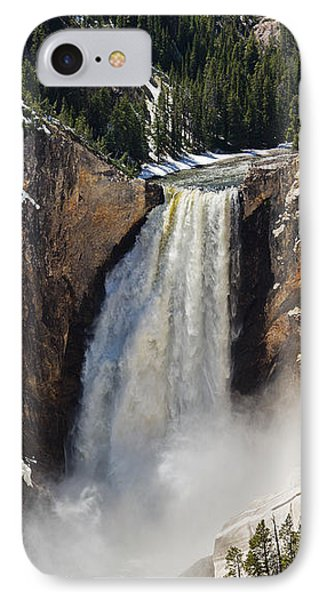 IPhone Case featuring the photograph Lower Falls Of The Yellowstone by Sue Smith