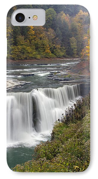 IPhone Case featuring the photograph Lower Falls by Timothy McIntyre