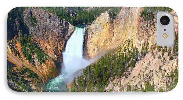 IPhone Case featuring the photograph Lower Falls Yellowstone 2 by Teresa Zieba