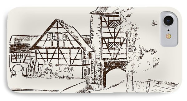 Lower Gate Aach Germany Drawing By Michael Kuelbel