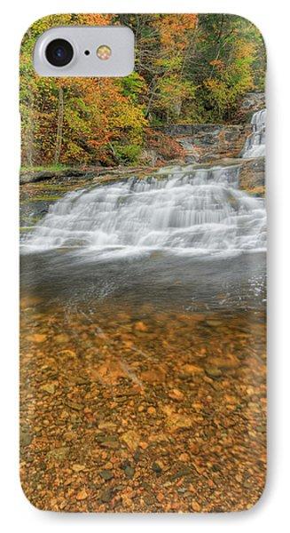 Lower Kent Falls Portrait IPhone Case
