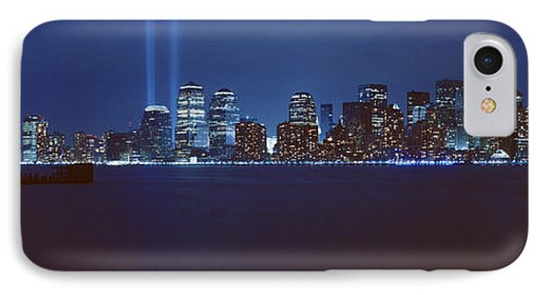 Lower Manhattan, Beams Of Light, Nyc IPhone Case by Panoramic Images