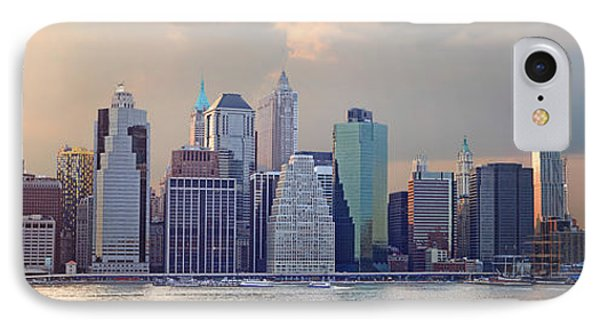 Lower Manhattan Panorama From Brooklyn Phone Case by Thomas Marchessault