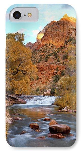 Lower Virgin River In Autumn IPhone Case by Leland D Howard
