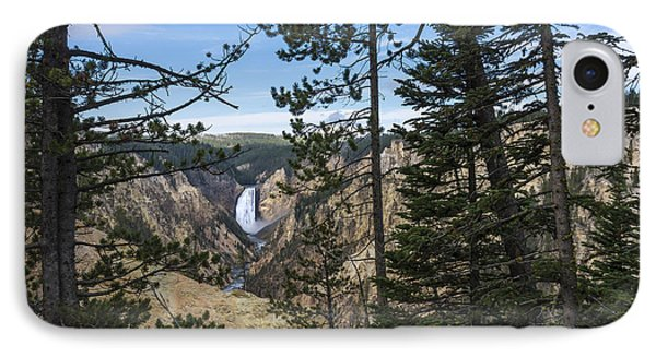 Lower Yellowstone Canyon Falls - Yellowstone National Park Wyoming Phone Case by Brian Harig