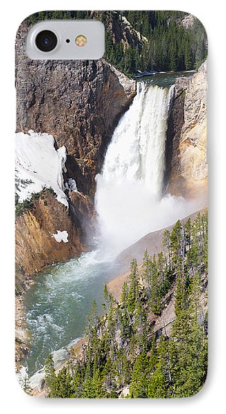 Lower Yellowstone Falls IPhone Case by Aaron Spong