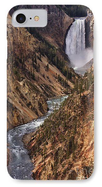 Lower Yellowstone Falls II IPhone Case by Mark Kiver