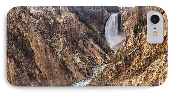 Lower Yellowstone Falls IPhone Case by Mark Kiver
