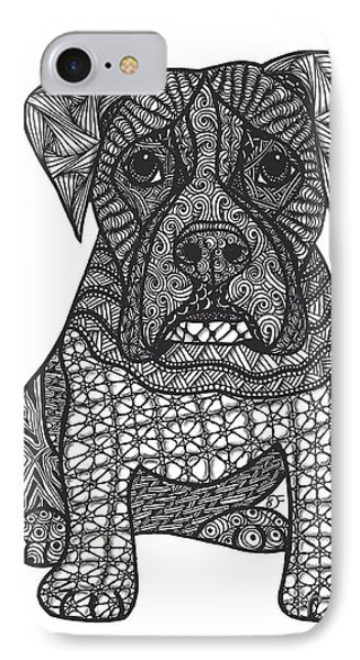 Loyalty- Boxer Dog Phone Case by Dianne Ferrer