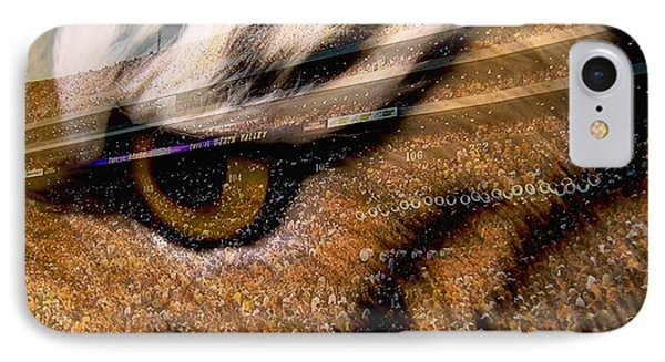 Lsu - Eye Of The Tiger IPhone Case by Elizabeth McTaggart