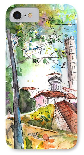 Lucca In Italy 01 Phone Case by Miki De Goodaboom