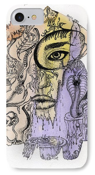 Lucid Mind - 5 IPhone Case by Alexandra Louie