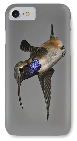 IPhone Case featuring the photograph Lucifer Hummingbird - Phone Case Design by Gregory Scott
