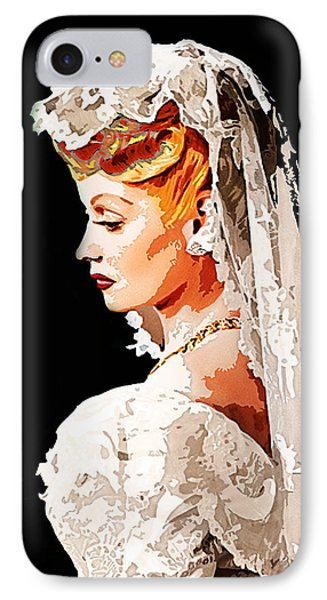 Lucille Ball Bride IPhone Case by Nuno Marques