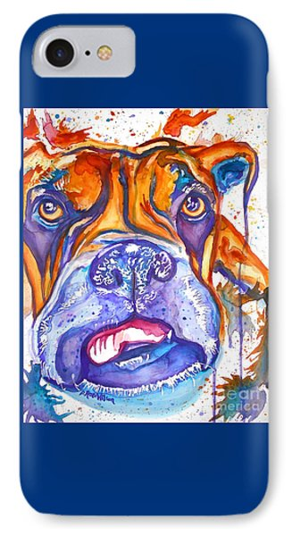 Lucille Boxer Blues  IPhone Case by D Renee Wilson