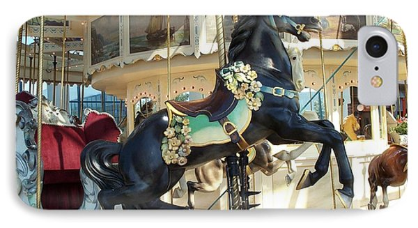 IPhone Case featuring the photograph Lucky Black Pony - Syracuse Ptc No 18 by Barbara McDevitt
