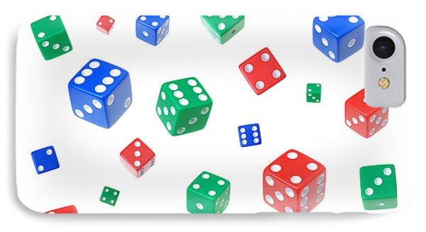 Lucky Dice IPhone Case by Jim Hughes