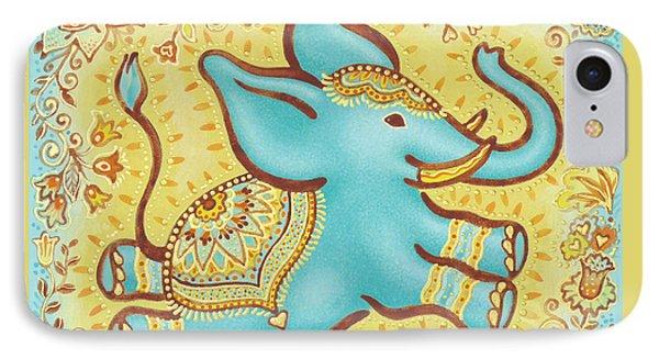 Lucky Elephant Turquoise IPhone Case