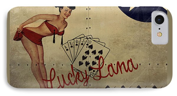 Lucky Lana Noseart IPhone Case by Cinema Photography
