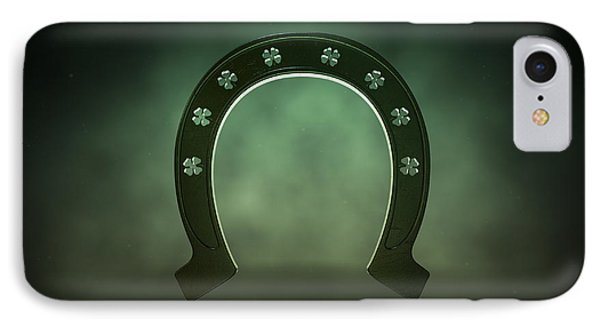 Lucky Shamrock Horseshoe IPhone Case by Allan Swart