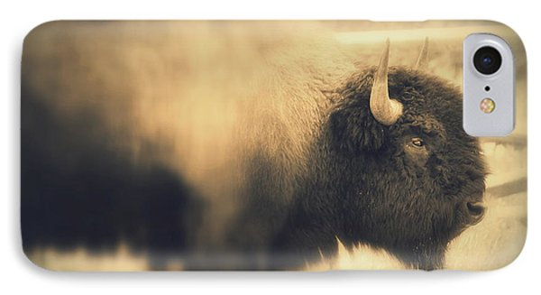Lucky Yellowstone Buffalo IPhone Case by Lynn Sprowl