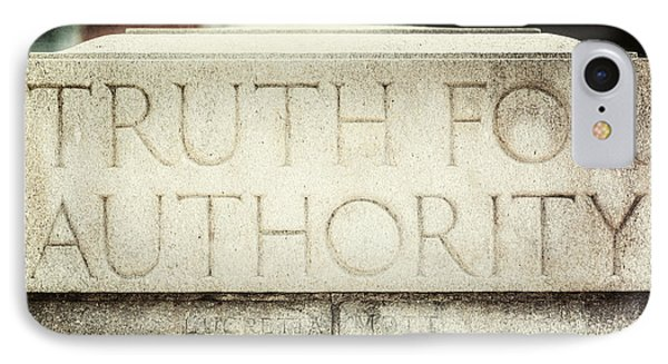 Lucretia Mott Truth For Authority IPhone Case by Lisa Russo